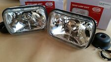 FIAT 127 126 128 CL YUGO SEAT 133 CRYSTAL HEADLIGHTS HEADLAMP H4 SCHEINWERFER