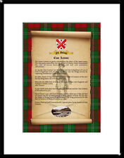 CLAN Lennox - Clan History, Tartan, Crest, Castle & Motto MOUNTED PRESENTATION