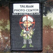 TALIBAN PHOTO CENTER ISAF INFIDEL NAVY SWAT USA US VELCRO® BRAND FASTENER PATCH
