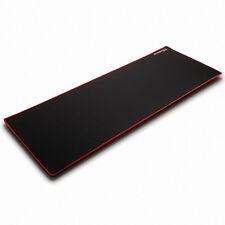 [MAXTILL] X-3 Waterproof Wide Gaming Mouse Pad, Black,Red overlock, High Density