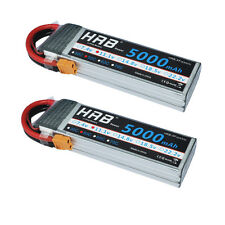 2pcs HRB RC LiPo Battery 11.1V 5000mAh 3S 50C AKKU Traxxas Car Monster XT60 US