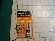 vintage Slide rule: METRICS MADE EASY, 1980 Security Federal Savings