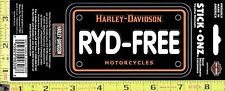 NEW Harley Davidson Motorcycle RYD-FREE Decal Car Truck Window Sticker 99308