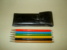 6 Vintage Old Mechanical Pencils TOISON D'OR COLORAMA BOHEMIA WORKS 5217 Czech