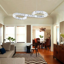 LED S Shape Crystal Pendant Lamp Lighting Ceiling Living Room Light Chandelier
