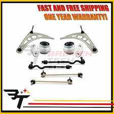 BMW E46 Control Arm Ball Joint Tie Rods Links Bushings Suspension Kit 10PC KIT