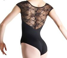 Bloch Small Black Lace Chiwa Leotard Women