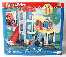 VERY RARE VINTAGE 1999 FISHER PRICE FUN SOUNDS GARAGE LITTLE PEOPLE NEW MIB !