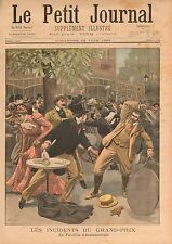 Grand-Prix Longchamp Incidents Pavillon D'Armenonville Paris 1899 ILLUSTRATION