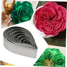 7pcs Stainless Steel Rose Petal Cake Cookie Cutter Mold Pastry Baking Mould GU