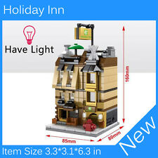 Mini Street View Building Block Holiday Inn Have Light SD6503