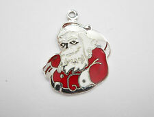 Sterling Silver Beau Enamel Santa Claus Christmas Traditional Charm #1744
