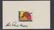 Donald Paul Hodel, Secretary of Energy and Interior, signed Conservation stamp