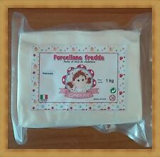 Porcellana fredda  (pasta di mais) da modellare 1 kg - made in italy -