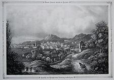 Ziegler: Original Lithografie Ansicht Lemberg Lvov Lviv Ukraine Galizien; 1845