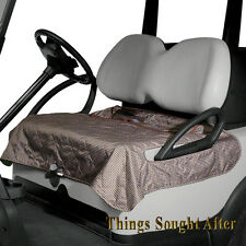 HOUNDSTOOTH SEAT BLANKET for GOLF CAR Quilted Fleece Cart Bench Cover Lap Warmer