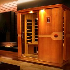 Dynamic 3 Person Far Infrared Sauna (Madrid Edition), 8 Carbon Heating Panels