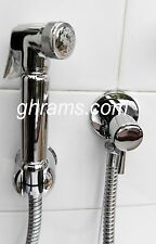 Italian Shower Bidet Sprayer Deluxe Chrome , Complete with Water Rate Control