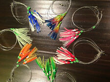 12x Sabiki 60 Squid Rigs Baits Fishing Lure Catch Hooks SaltWater Day Night Fish