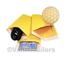 """500 #000 4x8 """" Valuemailers Brand """" Kraft Bubble Mailers Padded Envelopes Bags"""