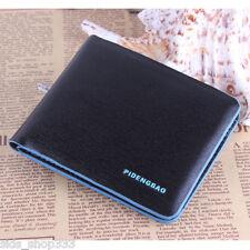 ✖ PIDENGBAO Black light blue trim bi-fold Wallet BEAUTY  window version