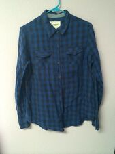 JC Penny Arizona Black & Blue Buffalo Plaid Flannel Grunge Hipster Tumblr