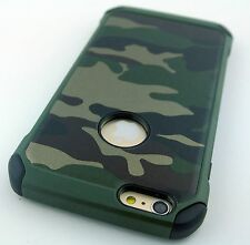 CAMOUFLAGE CAMO DESIGN REINFORCED RUGGED CASE COVER FOR APPLE IPHONE 6S PLUS