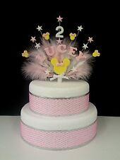 Personalizado Minnie mouse estilo pastel de cumpleaños topper, cualquier nombre y edad