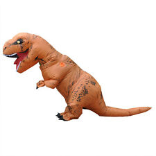 T-REX Costume Inflatable Dinosaur Outfit Blowup Adult Halloween Fancy Dress Suit
