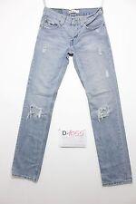 Levi's 511 slim destroyed boyfriend jeans usato (Cod.D1055) Tg.44 W30 L34