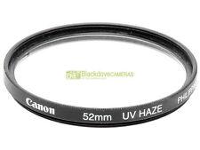 52mm. Filtro UV Haze originale Canon. Ultra violet filter.