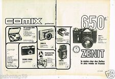 Publicité Advertising 1974 (2 pages) Appareils Photo Zenit E Zorki 10 Cosmic