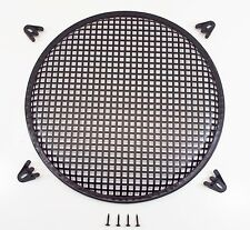 """15"""" Round Waffle Style Woofer Subwoofer Speaker Grille Cover w/ 4 Clamps"""