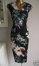 Bnwt coast jagger noir floral scuba shift dress 18 + MONSOON perfume sample
