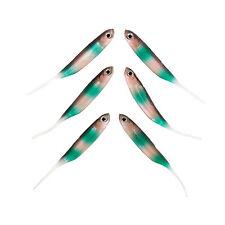 Rainbow Warrior softbait jigging fish lure pack of 6 from FISHIN ADDICT (100mm)