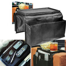 6 Pocket Sofa Arm Rest Organiser Snack Tray, Tv Remote Control, Phone, Dvd- TIDY