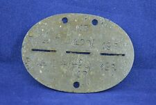 GERMAN WWII WEHRMACHT RAD ID TAG DOG TAG ZINC RARE WAR RELIC MARKINGS