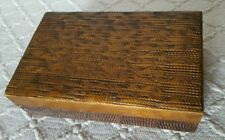 Old Wooden Trinket Box With Detailed Decoration and Brass Decoration To the Lid