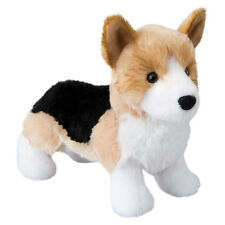 "Douglas Shorty CORGI Plush Dog Stuffed Animal Toy 8"" Corgi Tri Color NEW"