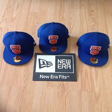 Lot of 3 New York Knicks New Era 5950 Fitted Hats