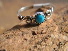 Magnificent Sterling silver Navajo signed turquoise ladies ring  size 6, 7, or 8