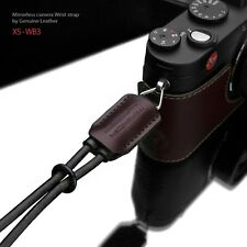 GARIZ Leather Wrist Strap Black Brown XS-WB3 m43 Sony NEX Olympus Lumix Fuji