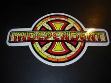 "INDEPENDENT TRUCKS Stain Glass Skateboard Logo Skate Sticker 7X4"" helmets decal"