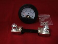 DC 0-60A Small Round Analog Ammeter Panel AMP Current Meter DH52  with shunt