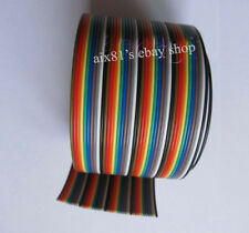 1M 3.3ft 40 Way 40 pin Flat Color Rainbow Ribbon IDC Cable Wire Rainbow Cable