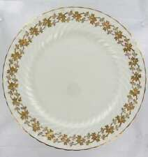 VINTAGE AYNSLEY BONE CHINA GILT IVY FLORAL GOLD  SWIRL DINNER PLATE 1950's