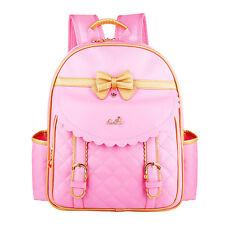 Hot Sale Kids Girls Princess PU Pupil School Shoulder Bags Backpack Bowknot Gift