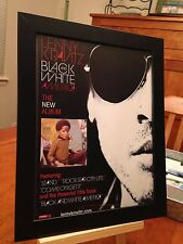 "FRAMED ORIGINAL LENNY KRAVITZ ""BLACK AND WHITE AMERICA"" LP ALBUM CD PROMO AD"
