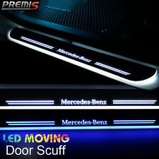 2x LED Moving Welcome Light Door Sill Scuff Pedal For Benz B-Series W245 2011-14
