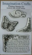 Imagination Crafts - Clear Stamp Set - Gilding Stamp Set Range - Butterfly